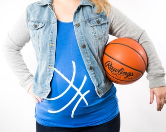Duke Blue Devils Basketball Maternity Shirt, St. Patrick's Day Maternity Shirt, Basketball Baby Bump Tank Top or Tee, Jersey