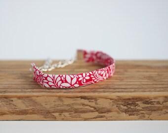 Flo - Pink Liberty fabric Bracelet