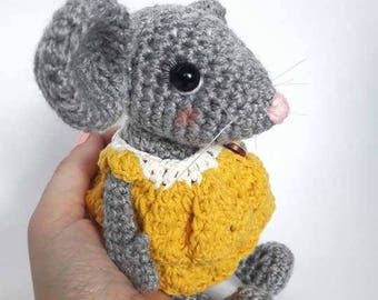 Cute mouse toy - Mouse stuffed animal - Mini mouse - Stuffed mouse toy - Mouse plushie - Tiny mouse - Amigurumi mouse - Mouse doll - Plushie