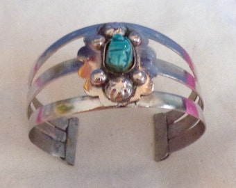 Beautiful Silver and Turquoise Cuff Bracelet