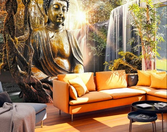Buddha wall mural | Etsy