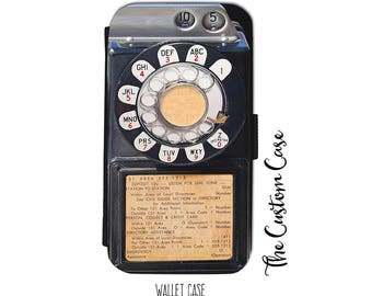 Retro Payphone Wallet Phone Case, Vintage Coin Phone Case, Vintage Dial Phone Wallet Case, for Samsung Galaxy and Iphone cases