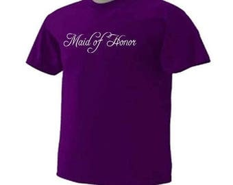 Maid Of Honor 01 Brides Attendant Wedding Bridal Party T-Shirt
