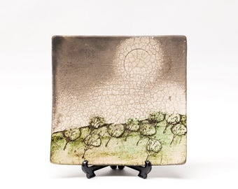 Jeff Mincham, Australia - Slab Built Raku Plate Form