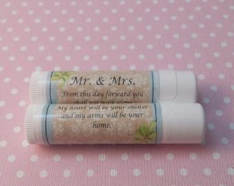 Custom chapstick labels/12 custom chapstick tubes/custom lip balm labels/custom labels for chapstick/personalized chapstick wedding favors