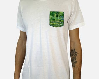 The Japanese Bridge Pocket Shirt (Claude Monet)