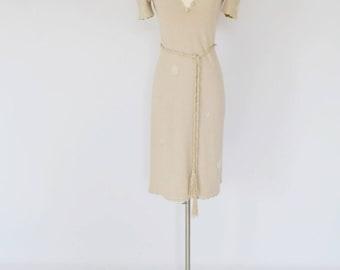 VTG Knit Body Con Midi Dress by ADOLFO