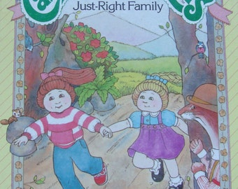 Cabbage Patch Kids - Vintage Illustrated Children's Story Book - The Just-Right Family