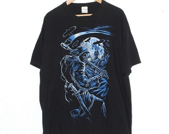 Vintage Grim Reaper Oversized Shirt