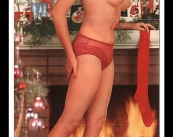 "Mature Playboy December 1960 : Playmate Centerfold Carol Eden Gatefold 3 Page Spread Photo Wall Art Decor 11"" x 23"""