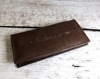 Personalized Women's wallet, Purse, Personalized, Monogrammed, Monogram Wallet, Bridesmaids Gift, Mothers Day Gift, Gifts for Mom Girlfriend
