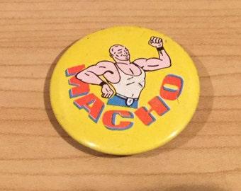 Vintage Macho Man Pin Badge
