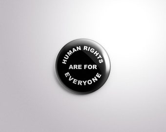 Human Rights, Human Rights Button, Women's Rights, Women's Rights Button, Equal Rights, Buttons, Pinback Button, Social Equality