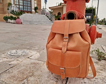 Leather Backpack Men, EXTRA LARGE Rucksack. Full Grain Leather Backpack, Hancrafted in Greece, 4 Colors available!