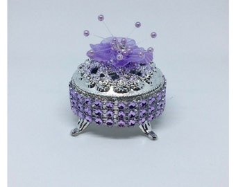 12 Purple Silver Party Favors