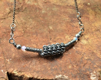 Coiled wire necklace