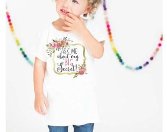 Big Sister Shirt. Big Sister Announcement Shirt. Secret Big Sister Shirt. Sibling Shirt. New Big Sister Shirt. Max and Mae Kids. Kids Shirt