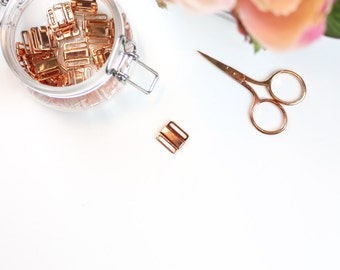 1 x Rose Gold Front Closures/Bikini Clasp