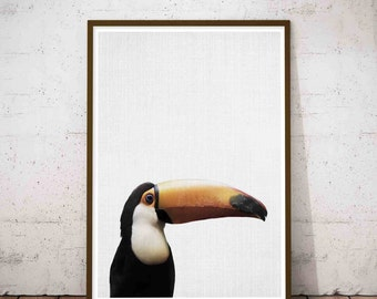 Tropical Decor Art, Rustic Nursery Set, Bird Print, Tropical Decor, Modern Minimal, Toucan Print, Toucan Art, Toucan Bird, Tropical Bird