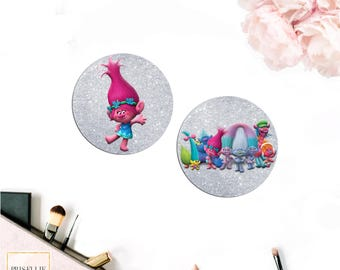 Trolls Envelope Seals, Trolls Envelope Stickers | Prisellie Designs