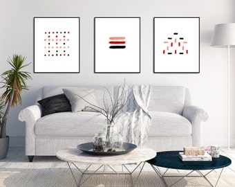 Set of 3 Prints Minimalist Wall Art Modern Art Prints Contemporary Art Print Modern Wall Art Decor Office Wall Art Set Printable Artwork