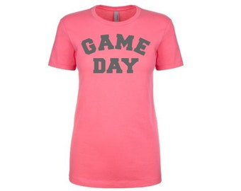 Womens Game Day Tshirts / Game Day Shirts / Football Tshirts / Womens Football Shirts / Womens Sports Tshirt / Football Tops / Game Day Tops