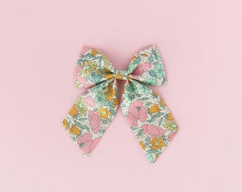 Poppy Liberty of London Sailor Bow, Hair Clip, Hair Bow, Toddler Bows, Hair Clips, Girl Hair Bow, Hair Accessories