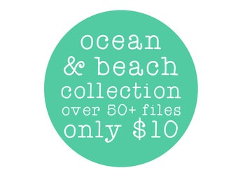 sale // ocean and beach collection // svg dxf file instant download silhouette cameo cricut clip art
