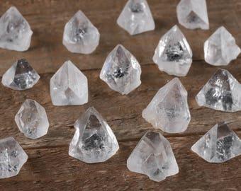 3 Mini APOPHYLLITE Pyramids - Clear Crystal Pyramid, Apophyllite Crystal Point, Stone Pyramid, Healing Crystal, Apophyllite Cluster E0362