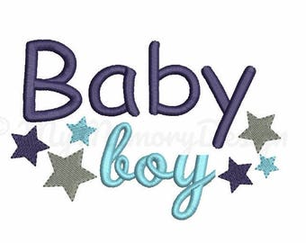 Baby Boy Embroidery Sayings - New baby embroidery design - Star embroidery - Machine embroidery Instant download file - 4x4 5x7 6x10 sizes