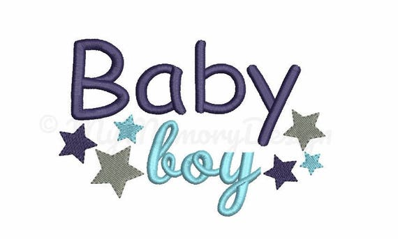 Baby boy embroidery sayings new design