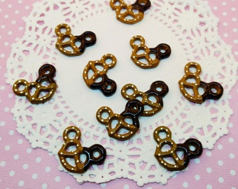5pc Chocolate Dipped Mouse Pretzel 28mm Kawaii Fake Sweets Resin Flatback Cabochon Scrapbook Decoden Craft DIY