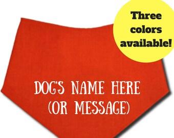 Personalized Dog Bandana with Dog's Name, Dog Bandana, Custom Dog Bandana, Personalized Dog Bandana, Dog Bandana Personalize, Dog Bandanna