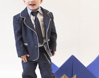 Alan - Baptism/Christening Linen Suit