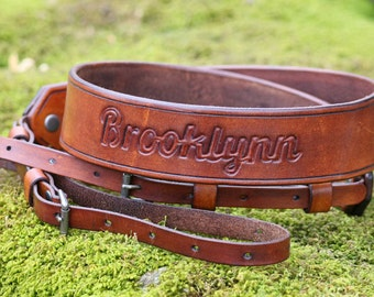 Leather Camera Strap, Photographer, Personalized with Your Name etc, Hand Made Quality Craftsmanship, Choose your Color,