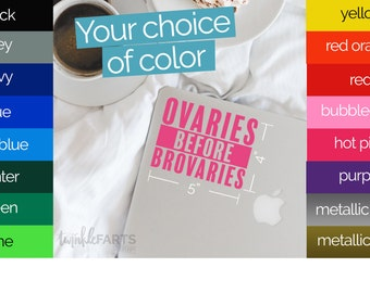 Ovaries before Brovaries Parks and Recreation, Uteruses before duderuses, laptop decal, car decal, Pawnee Indiana, Leslie Knope, girl power