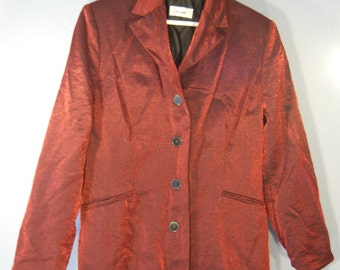 True vintage 90s Blazer 40 red shiny red shiny jacket