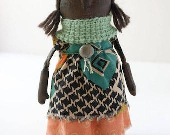 Adede - primitive art doll