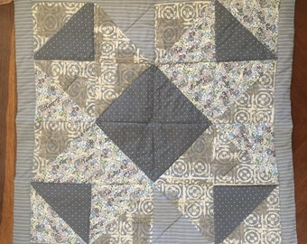 Gray Churn Dash Quilt