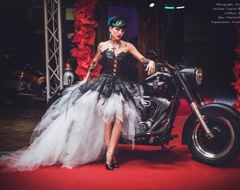 HARLEY leather wedding dress