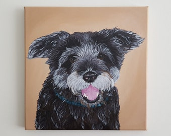 Custom Pet Painting - Pet Portrait - Acrylic Pet Painting - Original Pet Painting - Dog Painting - Animal Painting
