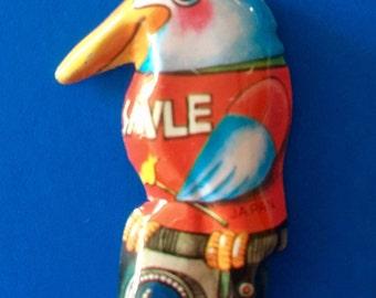 Vintage Tin Bird Pin - Made in Japan