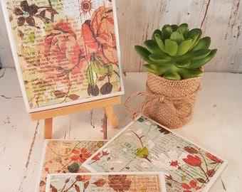 Tile Coasters - Vintage Flowers