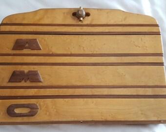 Vintage Earl Gresh wood purse