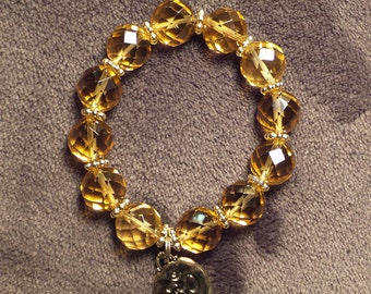 Faceted Citrine w/ Om Charm