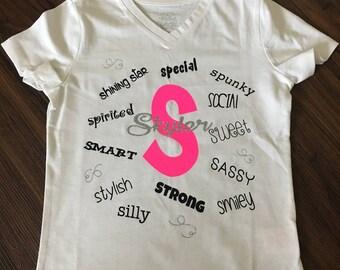 Descriptive Name Shirt (adjectives)