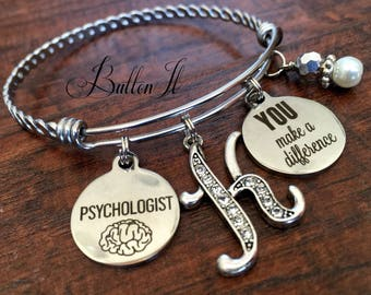 Psychology, psychology gifts, School psychologist, She BELIEVED she could so she did, You make a difference, Brain,  teacher appreciation