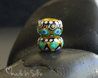 Handmade lampwork  beads  |  BHB   | Big Hole Beads  |  | European Charm |  SRA  |  artisan glass |  Silke Buechler