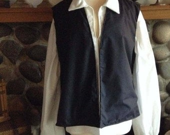 Colonial Civil War Men's Pirate Costume Shirt Vest Pants and Sash 4 piece Set