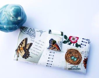 Nature Journal Wallet, Womens Wallet Clutch, Butterfly gift, Frog gift, Women's wallet, Mom Birthday Gift, Birthday Gift Ideas, Mom Gift